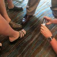 Using Smartphone to take picture of feet and shoes