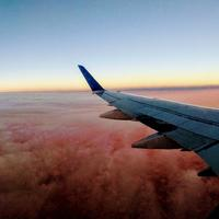 View from the wing of an airplane