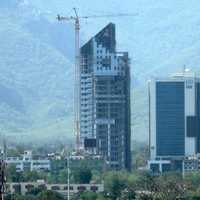 Telecom Tower and Islamabad Stock Exchange in Pakistan