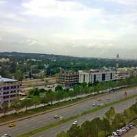 View of Blue Area from Jinnah Avenue in Islamabad, Pakistan