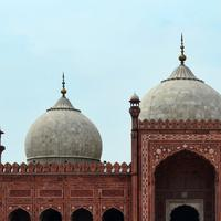 Shahi Mosque building in Lahore, Pakistan