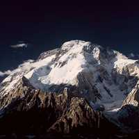 Snowy peak on the border of Pakistan and China
