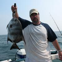 Angler with an Atlantic Spadefish