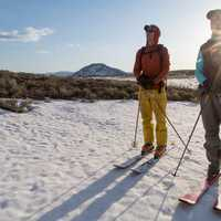 Backcountry skiing in the Gallatin Mountains
