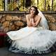 Beautiful Bride with white wedding dress