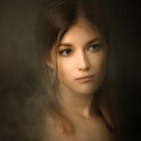 Beautiful head portrait of young woman