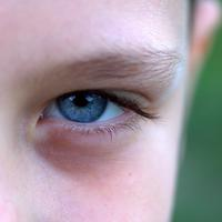 Blue eye from a boy