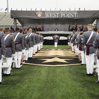 Cadets standing in a row at West Point