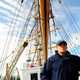 Coast Guard Cadet on a sailboat