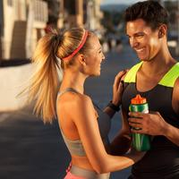 Couple smiling after a run