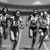 Female Runners in a race