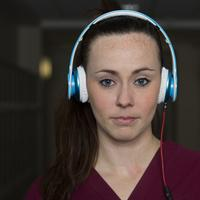 Female with Headphones student