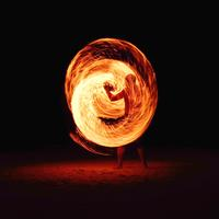 Fire Dancer performing