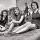 girls-sunbathing-black-and-white-1920s