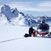 Helicoptering in to the Ski Site