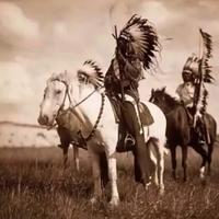 Indian Warrior Chief on Horseback