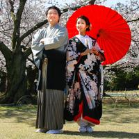 Japanese Couple in Traditional Dress