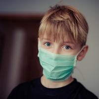 Kid Wearing Doctor's Mask
