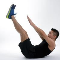 Man doing Stretches on the floor