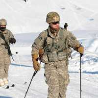 Man skiing at U.S. Army's Alaska winter games