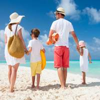 Nice family on the beach free image