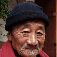 Old Burmese Man facial shot