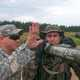 Paratroopers practicing with the Bazooka