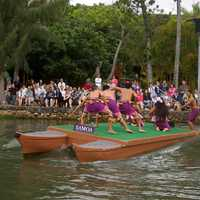 People doing Boat performance in Hawaii