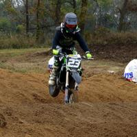 Rider on a dirt bike