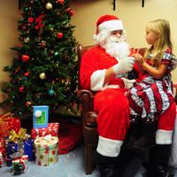 Santa with young Girl