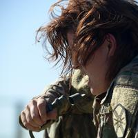 Side Profile of female soldier