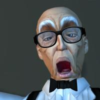 Surprised and Shocked old man expression 3d model