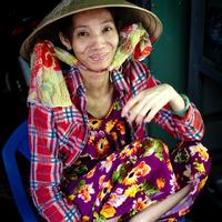 Vietnamese Woman in the Marketplace