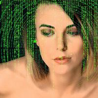 Woman in the Computer Matrix