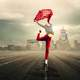 woman-leaping-holding-a-red-scarlet-a-red-scarf-for-joy