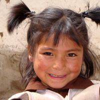 Young Child Living in the Andes in Peru