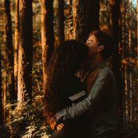 Young Couple in the woods