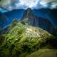 Intensely Colored Overview of Machu Picchu, Peru