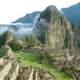 Mountainside and structures of Machu Picchu, Peru