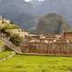 Stone buildings and temples in Machu Picchu, Peru