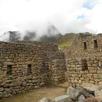 Stone Walls and Fortifications in Machu Picchu, Peru