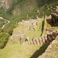 Terrace Steps in Machu Picchu, Peru