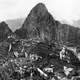 View of the city of Machu Picchu in 1912 in Peru