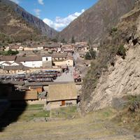 Great Scene in the Ollantaytambo valley in Peru
