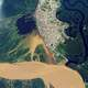 NASA Satellite Image of Iquitos within the Amazon Rain Forest in Peru