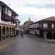 Old streets in the city center in Cusco, Peru