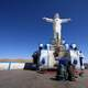 White Christ Statue in Juliaca, Peru