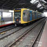 Platform area of Blumentritt LRT Station in Manila, Philippines