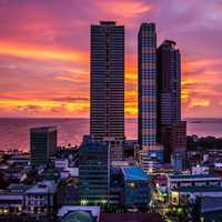 Skyscrapers and Towers and skyline in Manila, Philippines