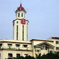 The clock tower of the Manila City Hall in Philippines